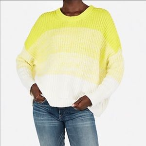 EXPRESS (NWOT) yellow & white ombre knit sweater